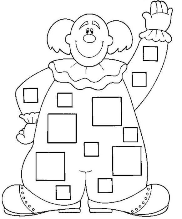 Resultado de imagen para cuadrados y circulos para colorear ...