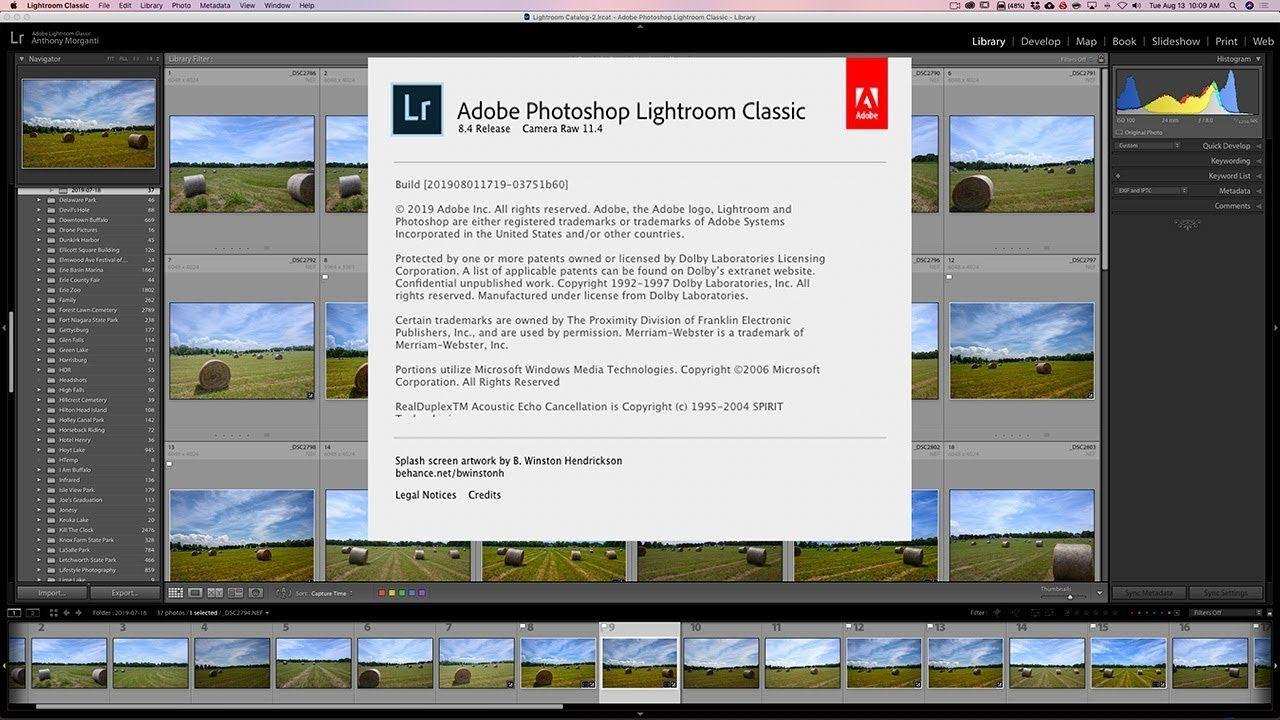 Latest version of lightroom