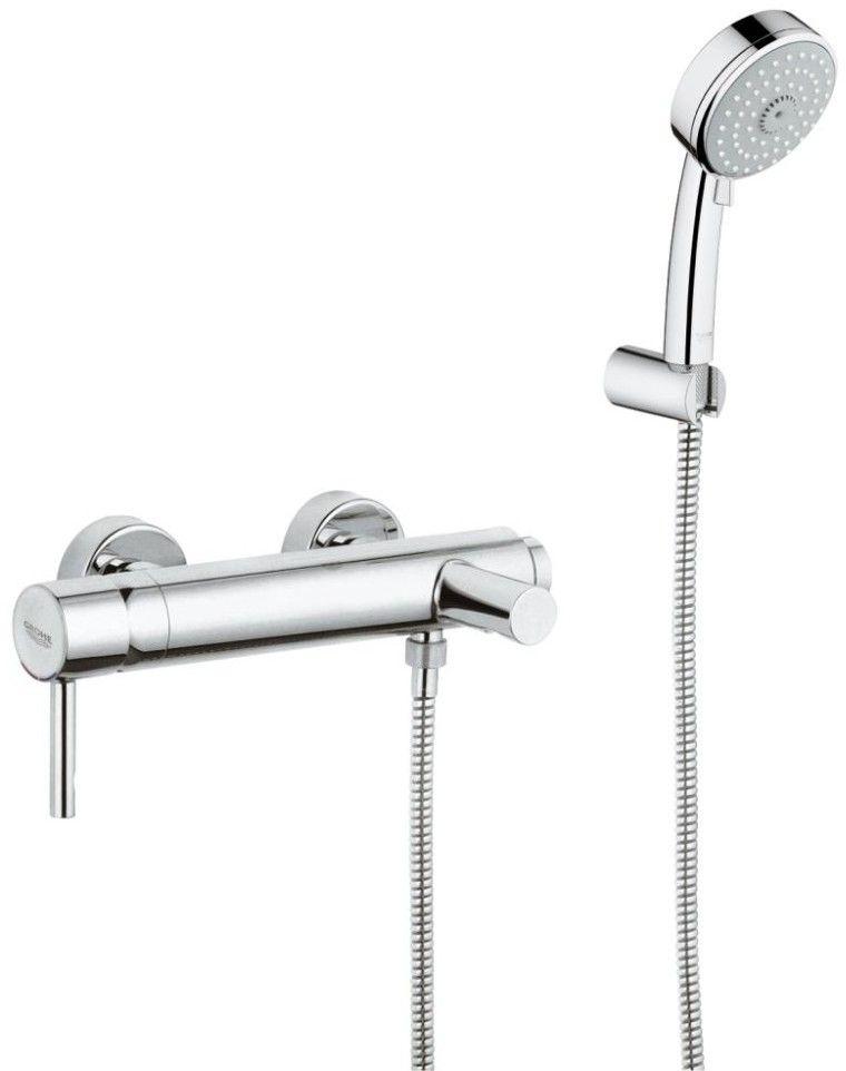 Grohe Essence Wall Mounted Bath Shower Mixer Kit 1 2 33628 E Design Espacio