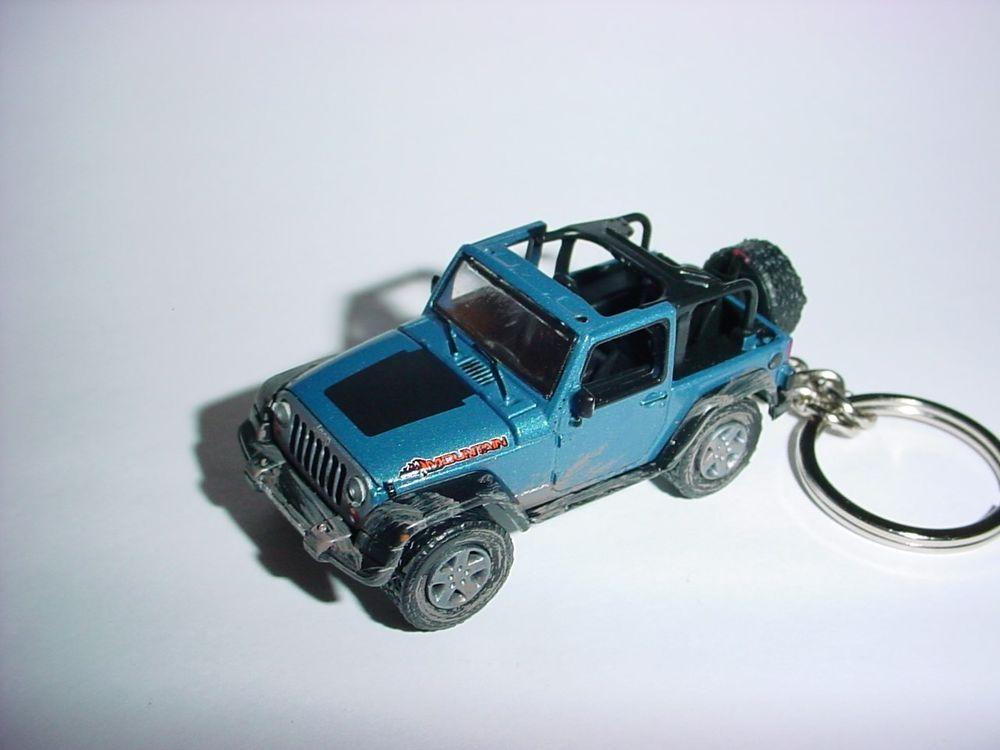 Hot 3d Blue 2010 Jeep Wrangler Mountain Custom Keychain Keyring