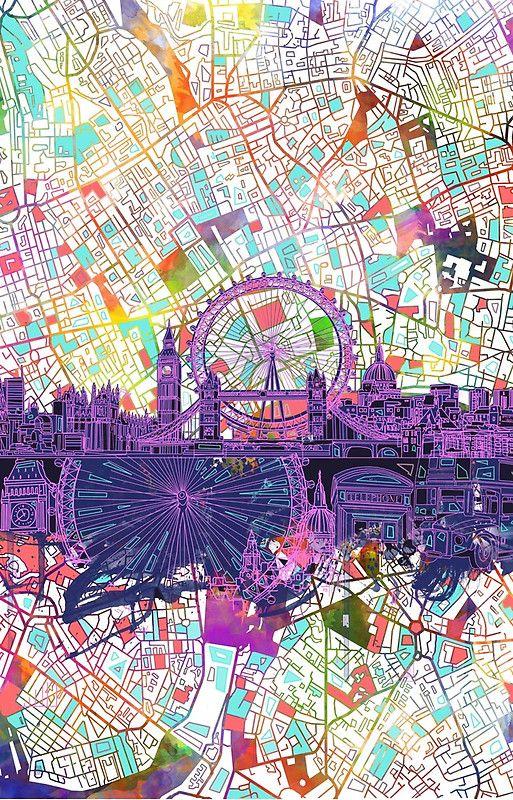 London skyline abstract