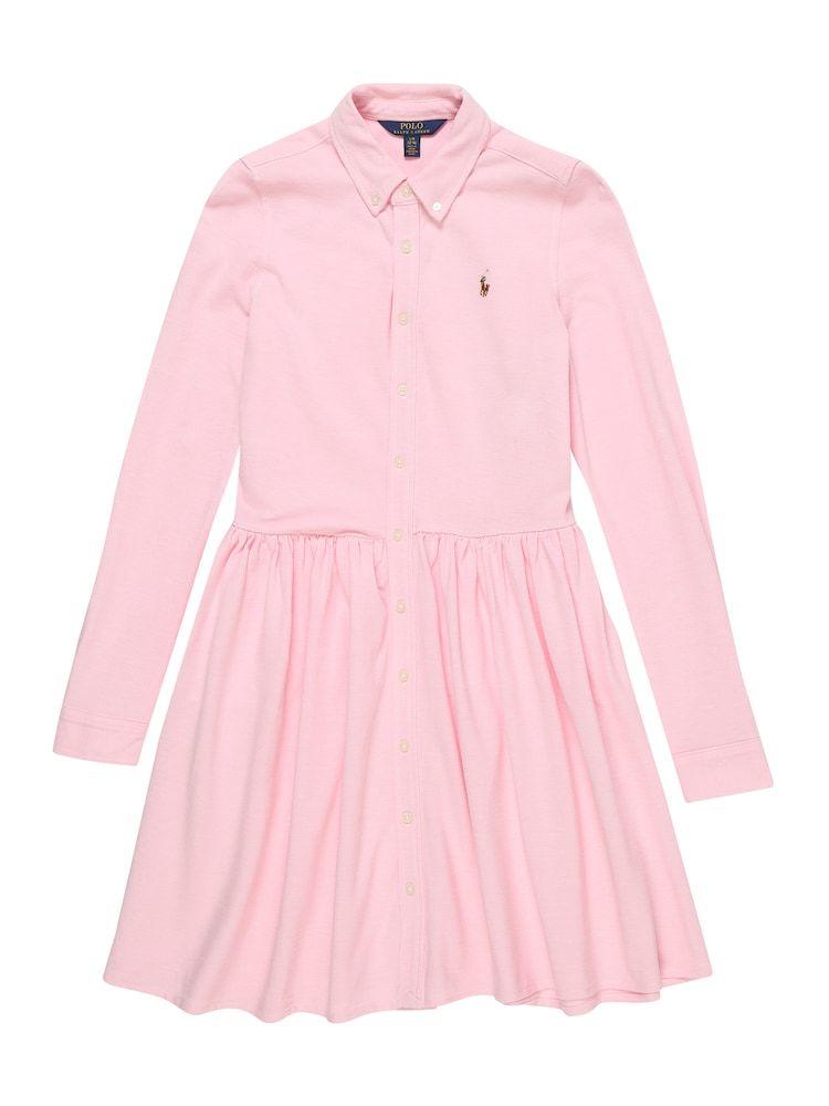 Polo Ralph Lauren Kleid Oxford Dress Dresses Knit Madchen Rosa Grosse 130 138 Oberhemden Kleider Kinder Kleider