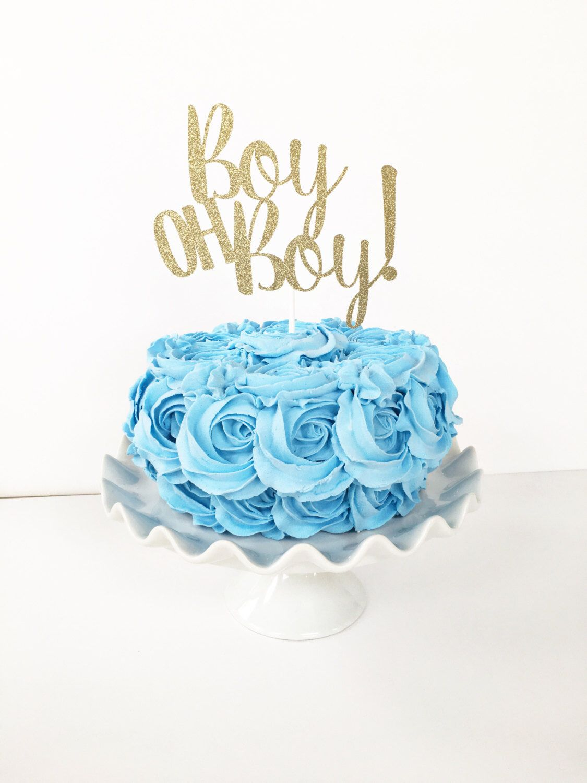 Boy Oh Boy Cake Topper Boy Baby Shower Baby Sprinkle Oh Boy