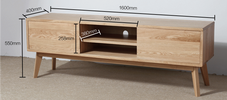 Anese Style Solid Wood Tv Cabinet Coffee Table White Oak All