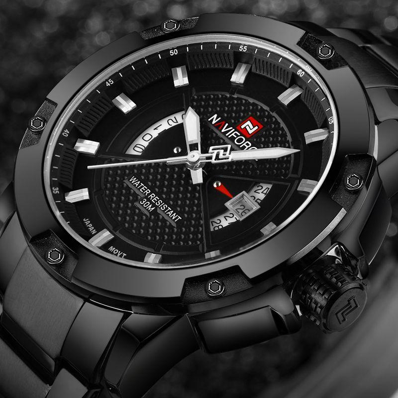 a7bc14ae8ff0 NAVIFORCE Mens Watches Top Brand Luxury Sport Quartz Watch 3ATM Waterproof  Men s stainless steel Wrist watch Relogio Masculino   Price   35.98   FREE  ...