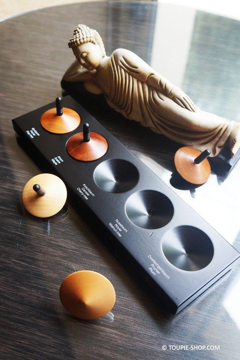 collection de 5 toupies en bois design jeux adulte pinterest. Black Bedroom Furniture Sets. Home Design Ideas