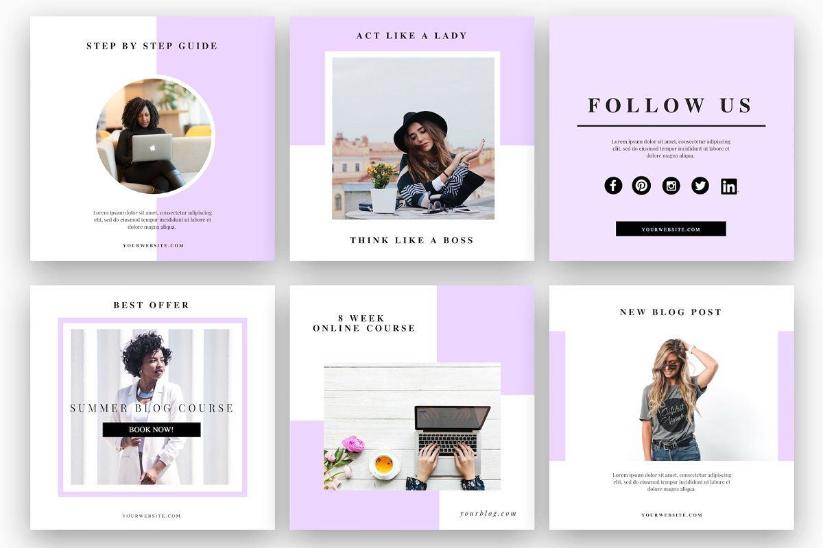 Ad Coach Instagram Design Pack by Sales Shop on