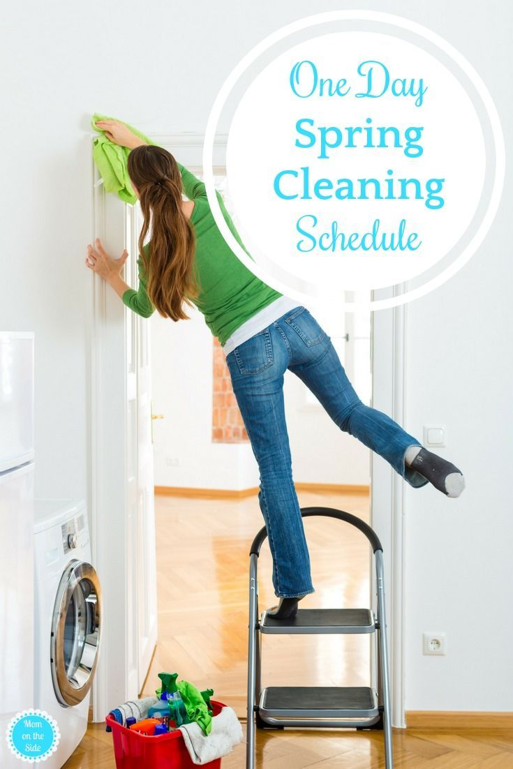 How To Tackle Spring Cleaning In One Day | Spring Cleaning Schedules,  Cleaning Schedules And Frugal