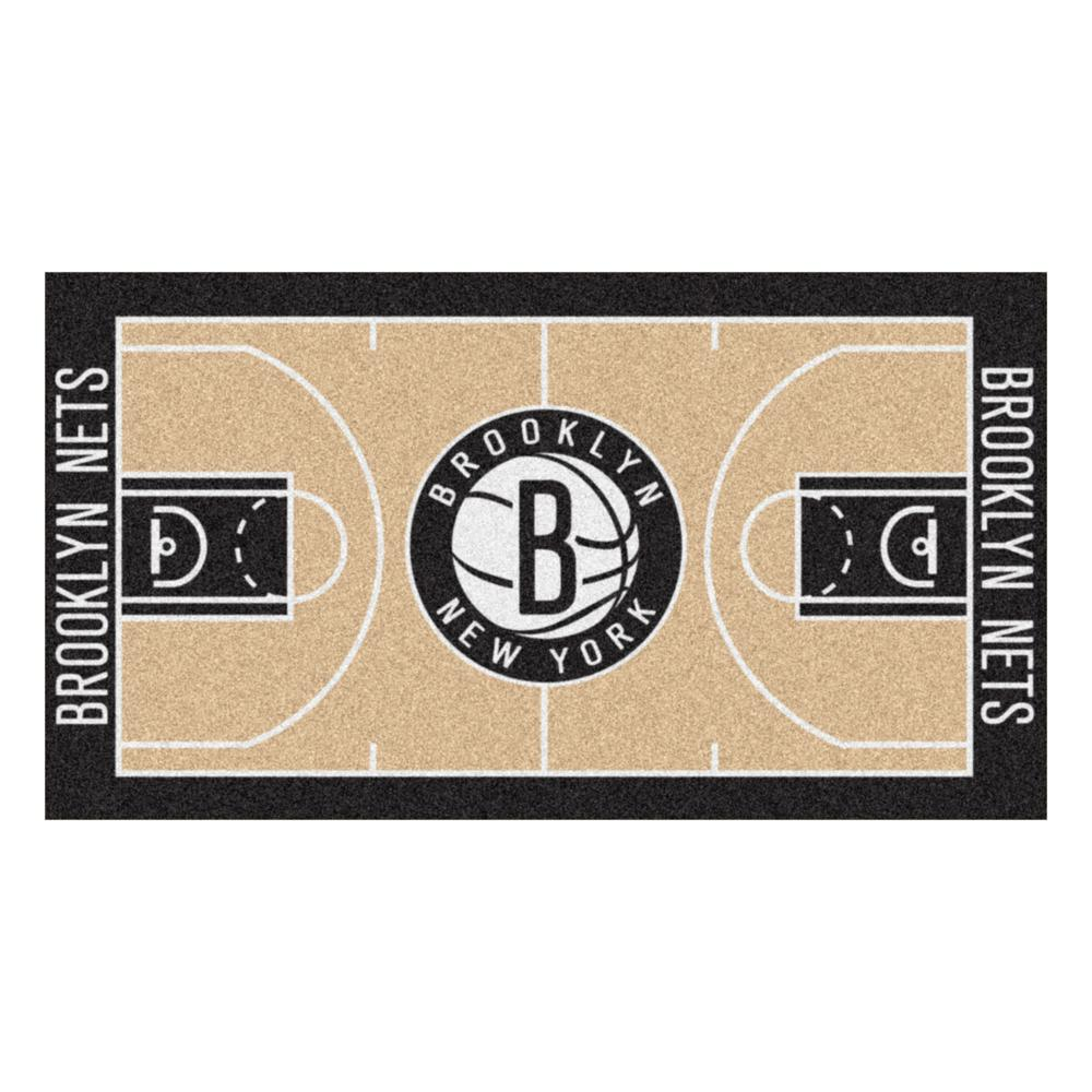 Fanmats Nba New Jersey Nets 3 Ft X 5 Ft Large Court Runner Rug 9338 The Home Depot Brooklyn Nets Brooklyn Nets Basketball Basketball Net