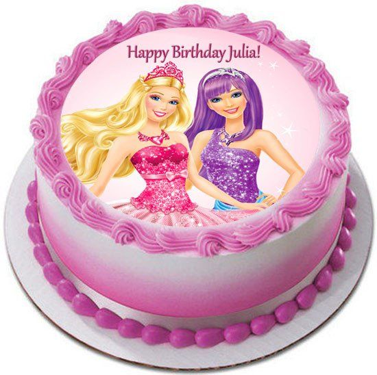 Peachy Barbie Princess And The Popstar 1 Edible Birthday Cake Topper Or Funny Birthday Cards Online Sheoxdamsfinfo
