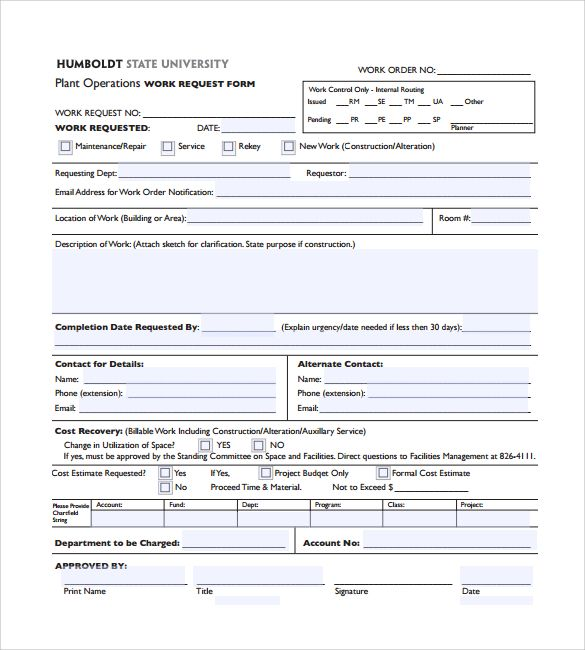 Sample Construction Work Order Form 4 Free Documents In Pdf Construction Work Form Order Forms