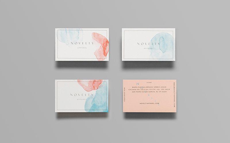 Novelty Apparel Serifs Sans Business Card Design Inspiration Card Design Business Card Design