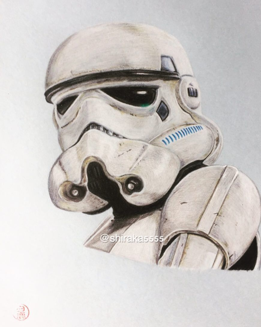 Imperial stormtrooper drawing draw drawings art