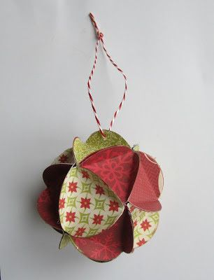 """Cards en Scrap Challengeblog: Workshop """"papieren kerstbal"""""""