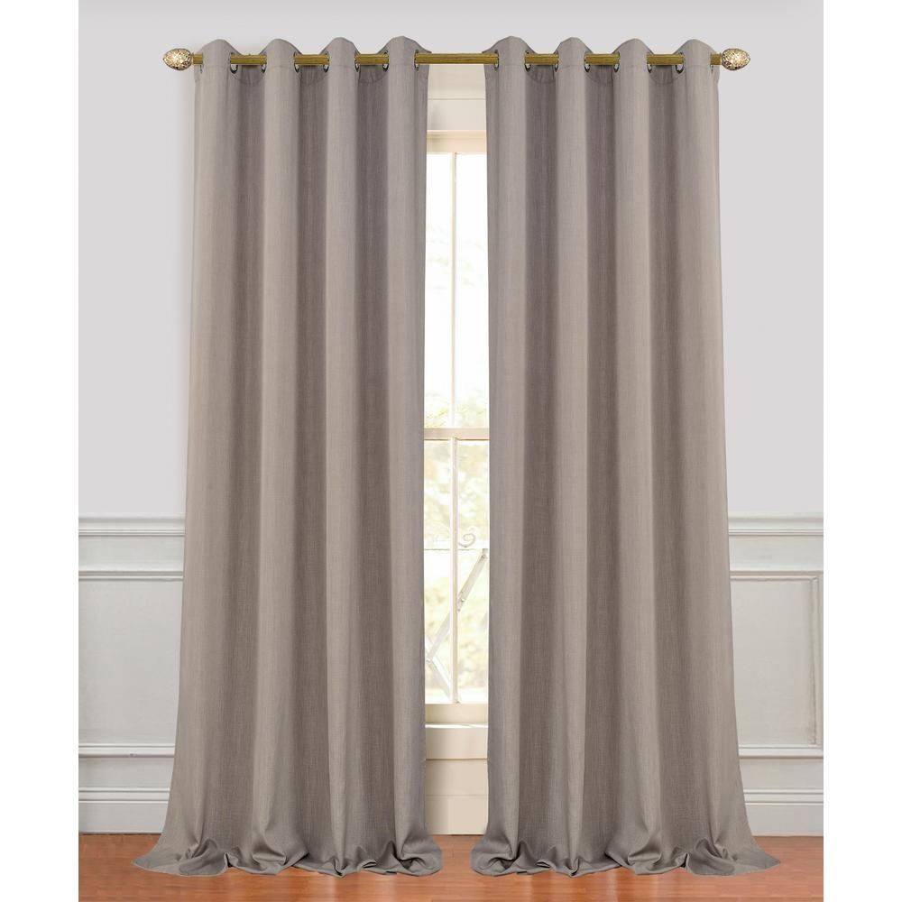 Dainty Home Madison 96 In L Polyester Extra Long And Wide Linen Look Window Curtain Panel Pair In Coffee 2 Pack 96madco Window Curtains Panel Curtains Curtains