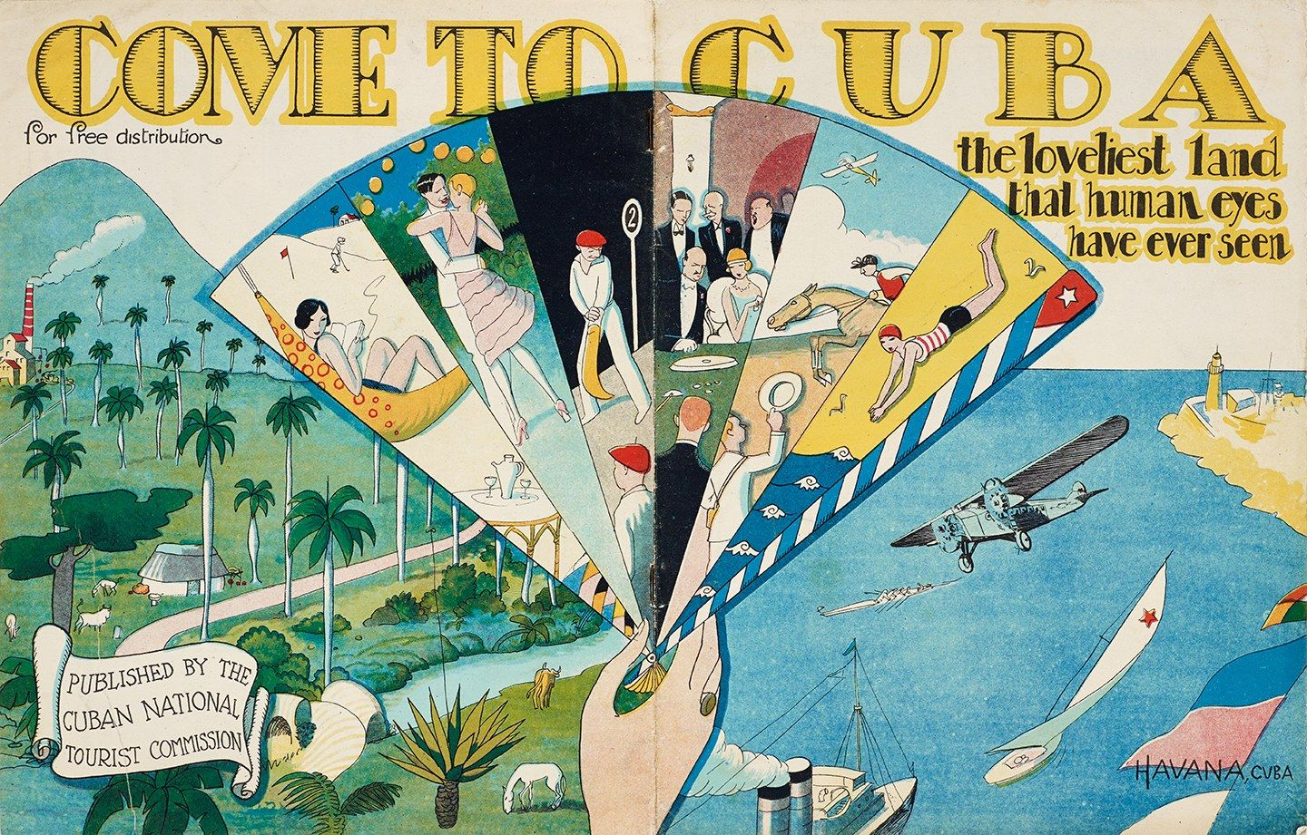 These vintage posters show how cuba lured us tourists before the brochure come to cuba the loveliest land that human eyes have ever seen c 1950 gumiabroncs Image collections