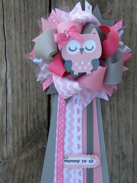 Superior Owl Baby Shower Owl Corsage