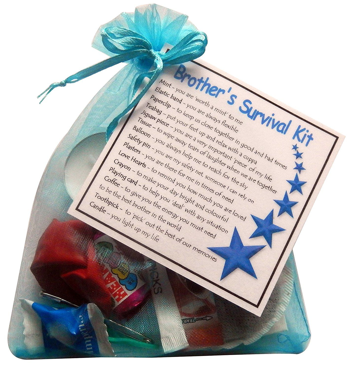 Brother's Survival Kit Gift (Great novelty gift for