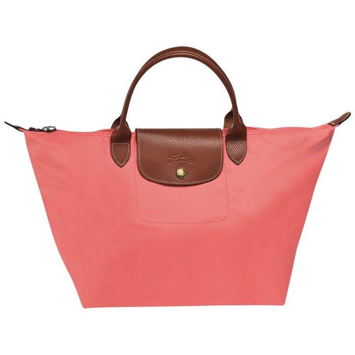 LONGCHAMP LE PLIAGE MEDIUM HANDBAG CORAL RED   Medium handbags ...