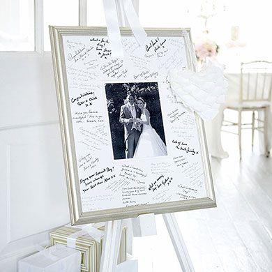 Antique Finish Silver Signing Frame Wedding Guest Book Unique Guest Book Wedding Picture Frames