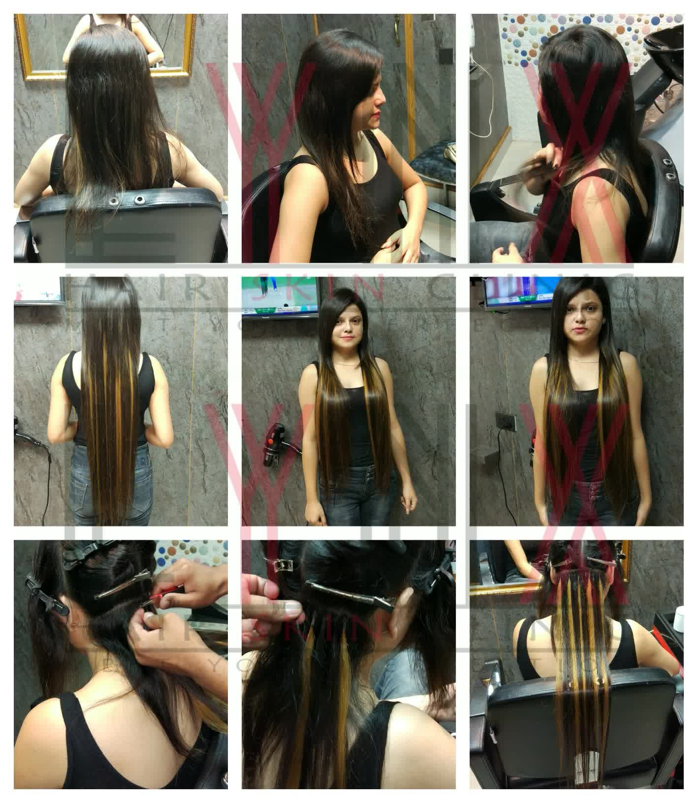 MicroRing Hair Extensions in Gurgaon Micro ring hair