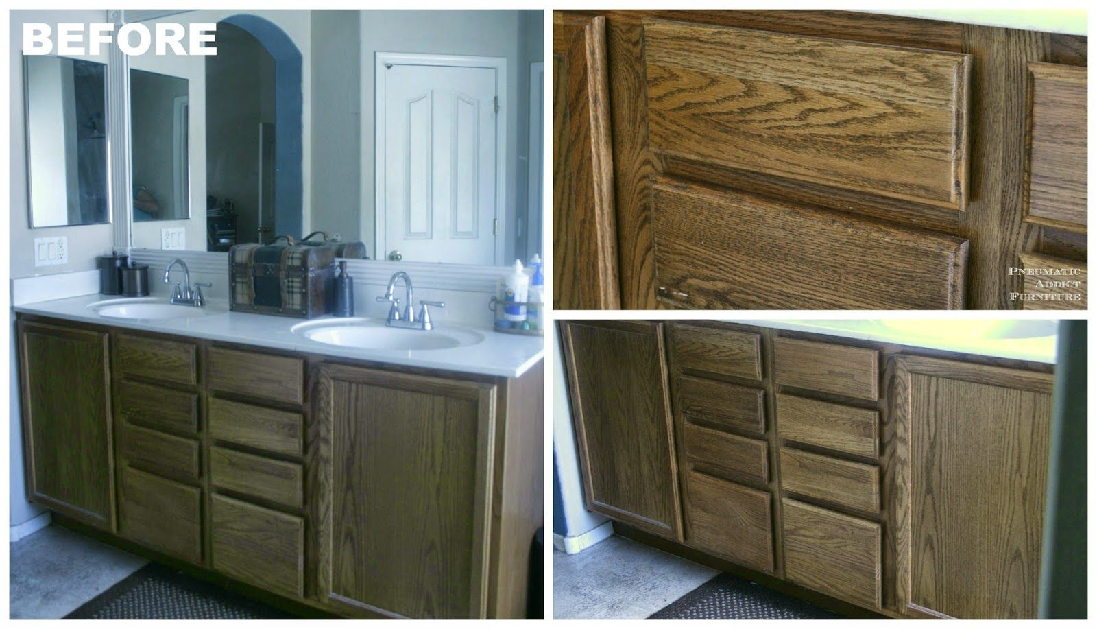 Darken Cabinets WITHOUT Stripping the Existing Finish ...