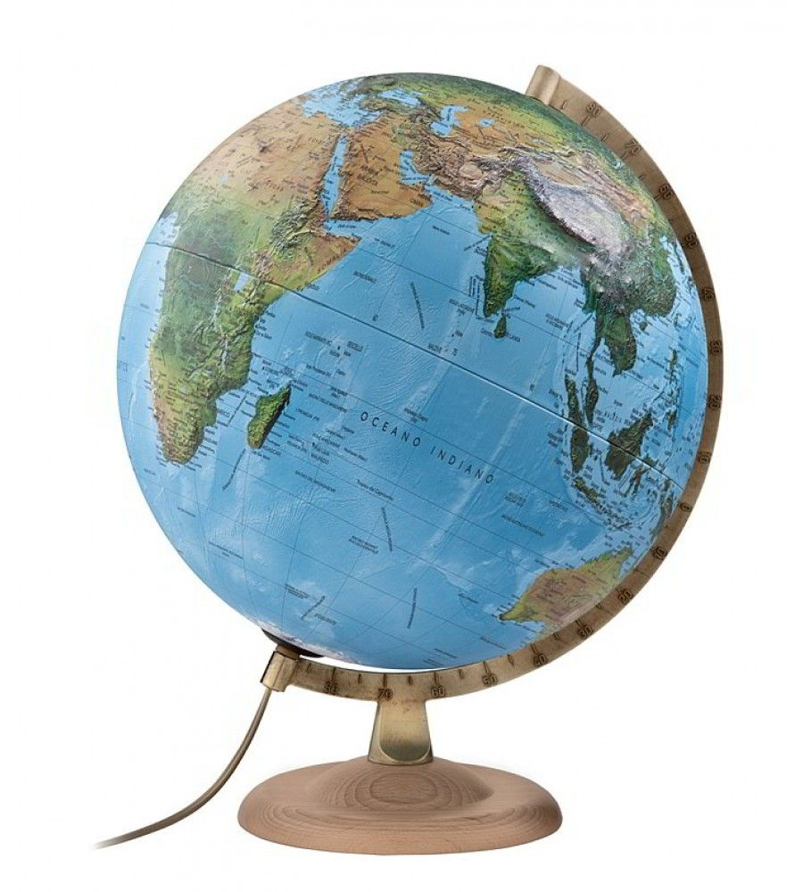 Classic R4 Relief Physical Political World Globe (con