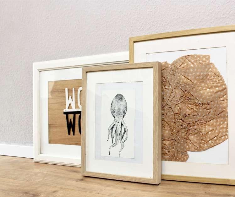 Skandinavischer Wohnstil für die Wand ° DIY-Ideen für Bilder für das