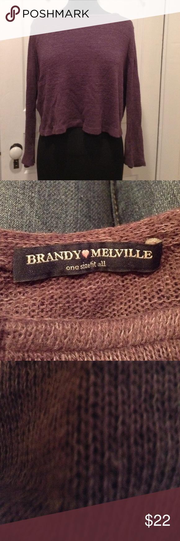 Brandy Melville sweater Brandy Melville purple sweater used once Brandy Melville Sweaters Crew & Scoop Necks