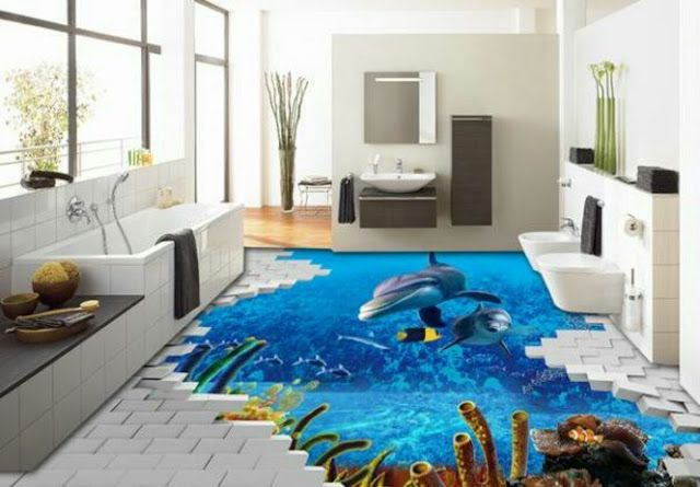 3d Bathroom Tile Floor Ideas For Sale 3d Bodenbelag Dekor Farben Und Tapeten