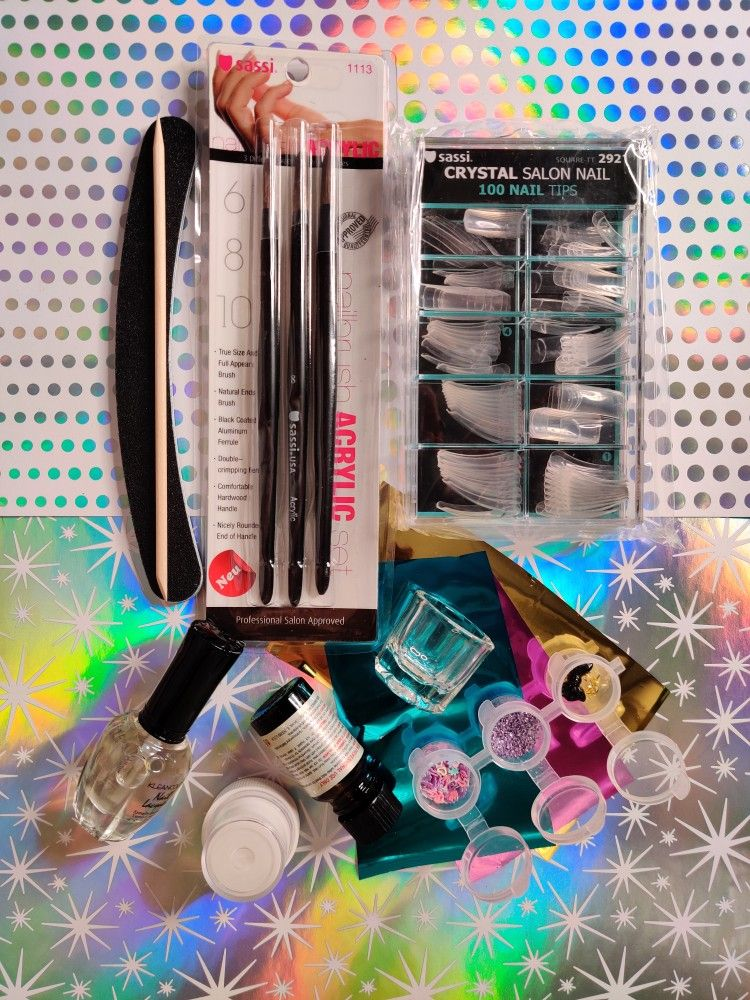 Acrylic nail starter kit in 2020 Diy acrylic nails
