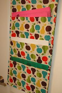 Fabric Hanging File Holder I Am Making One Of These For My Cubical