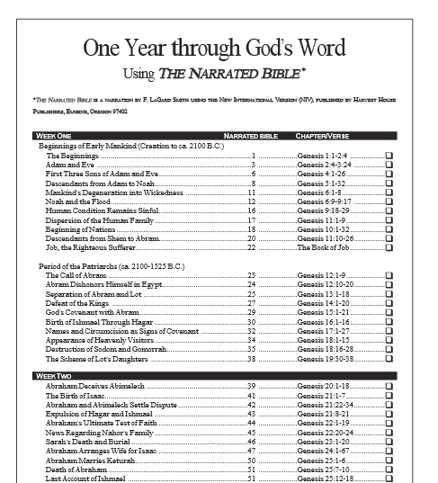 Free Bible Reading Checklist Free! This download is a 14