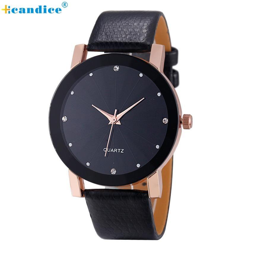 >> Click to Buy << Luxury Dial PU Leather Band Quartz Wrist Watch Men relogio masculino Creative Drop Shipping NEW #Affiliate