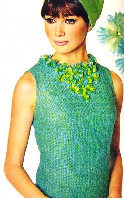 Sophy Derly, Burda Moden August 1965. Love this combo of greens for Vital Spring.