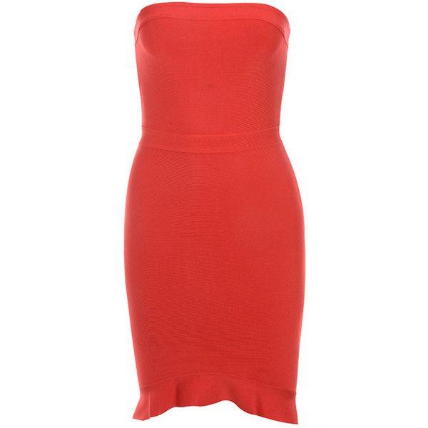 2fcdcfda385a 'Elfin' Red Strapless Fluted Hem Bandage Dress - Mistress Rocks ($140) ❤