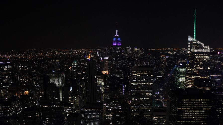 New York City Lights Hd Wallpaper Places In 2019 Pinterest