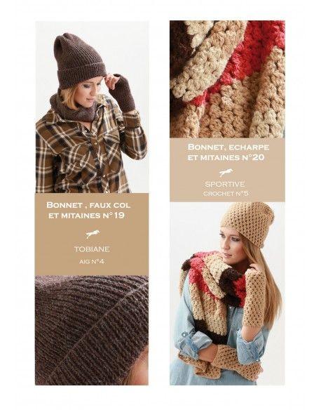 Modèle bonnet, écharpe et mitaines CB21-20 - Patron tricot gratuit ... e02deb1e2b8