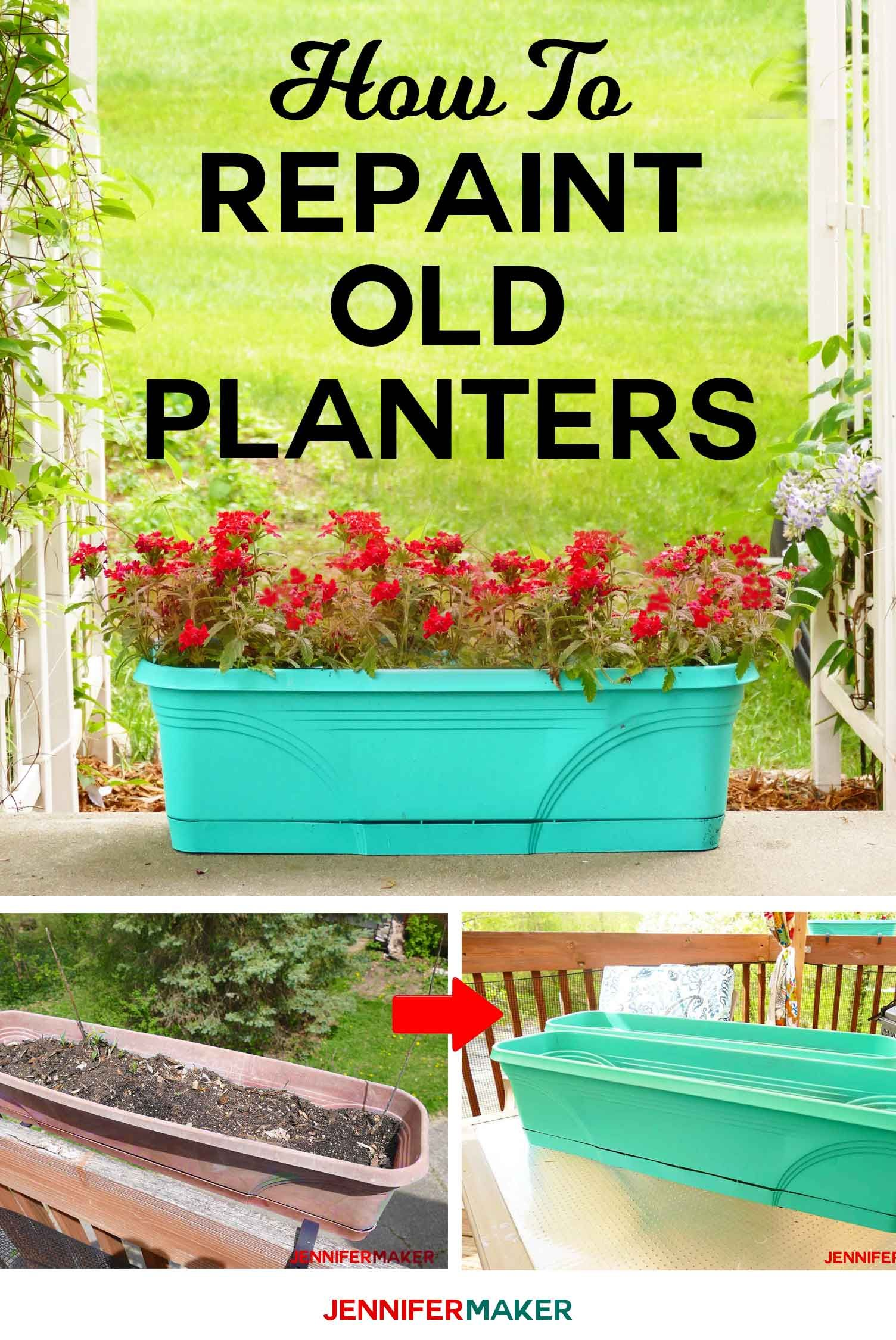 How To Spray Paint Plastic Planters Plastic Planters Painting Plastic Spray Paint Plastic