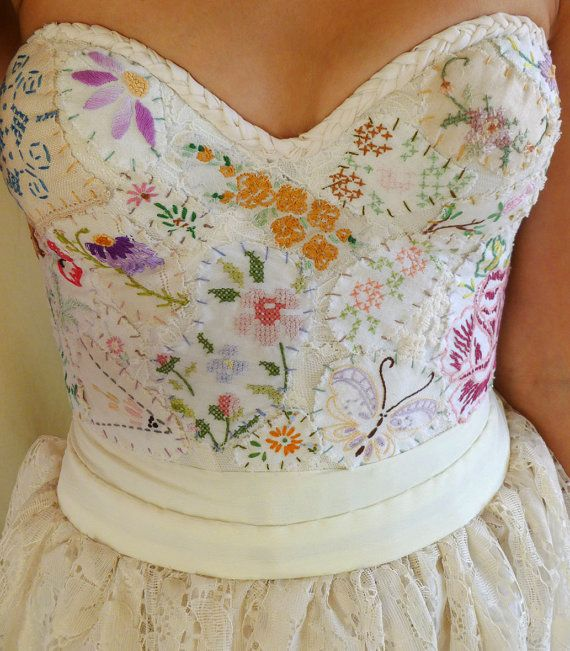Meadow bustier wedding gown women dress boho by