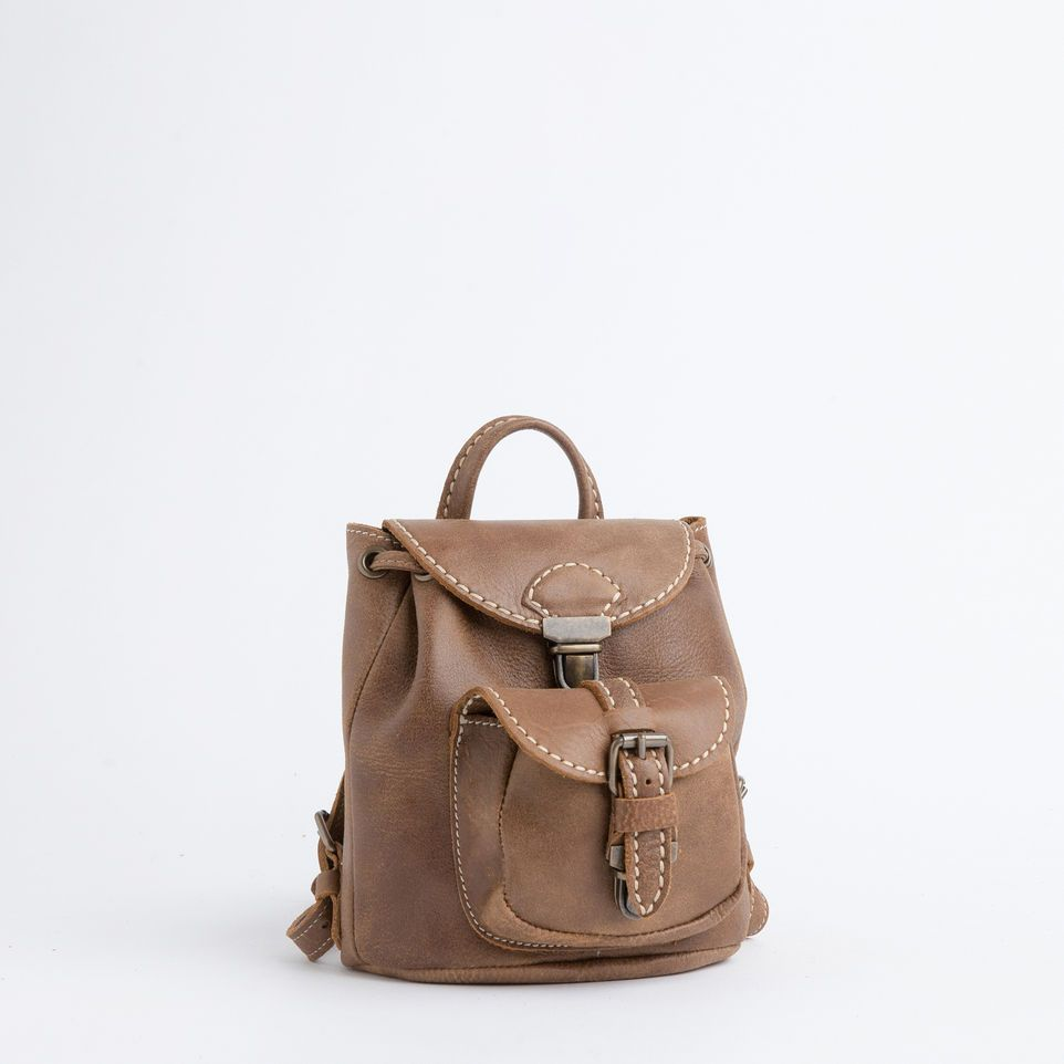 mini alex pack vintage tribe leather leather backpacks roots