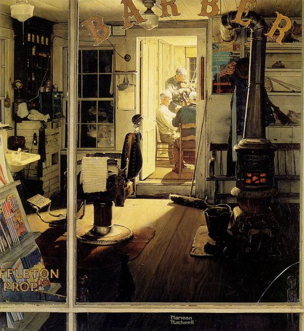 Norman Rockwell...I have seen this painting in person...it is amazing!