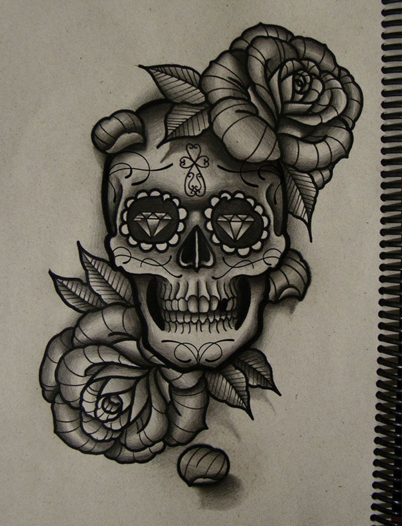 Skull Roses Tattoos Yahoo Image Search Results Skull Rose Tattoos Skull And Rose Drawing Skull