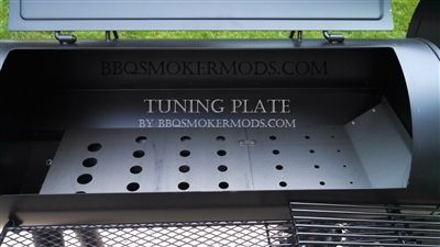 Oklahoma Joe Tuning plate heat deflector baffle Smoker mods longhorn highland horizontal kit longhorn