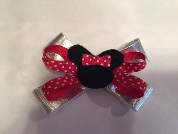 Minnie Mouse Bow by BowTinkHeadbands on Etsy