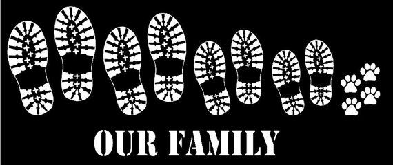 Hiking Family decal