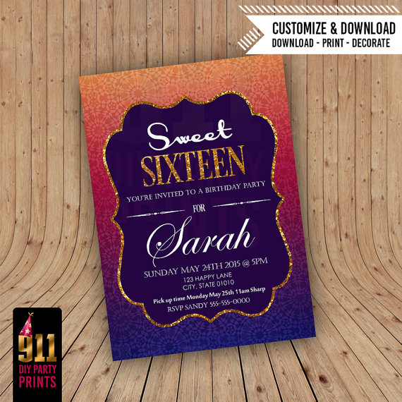 Arabian Night Invitation Prom Ideas Pinterest – Arabian Nights Party Invitations