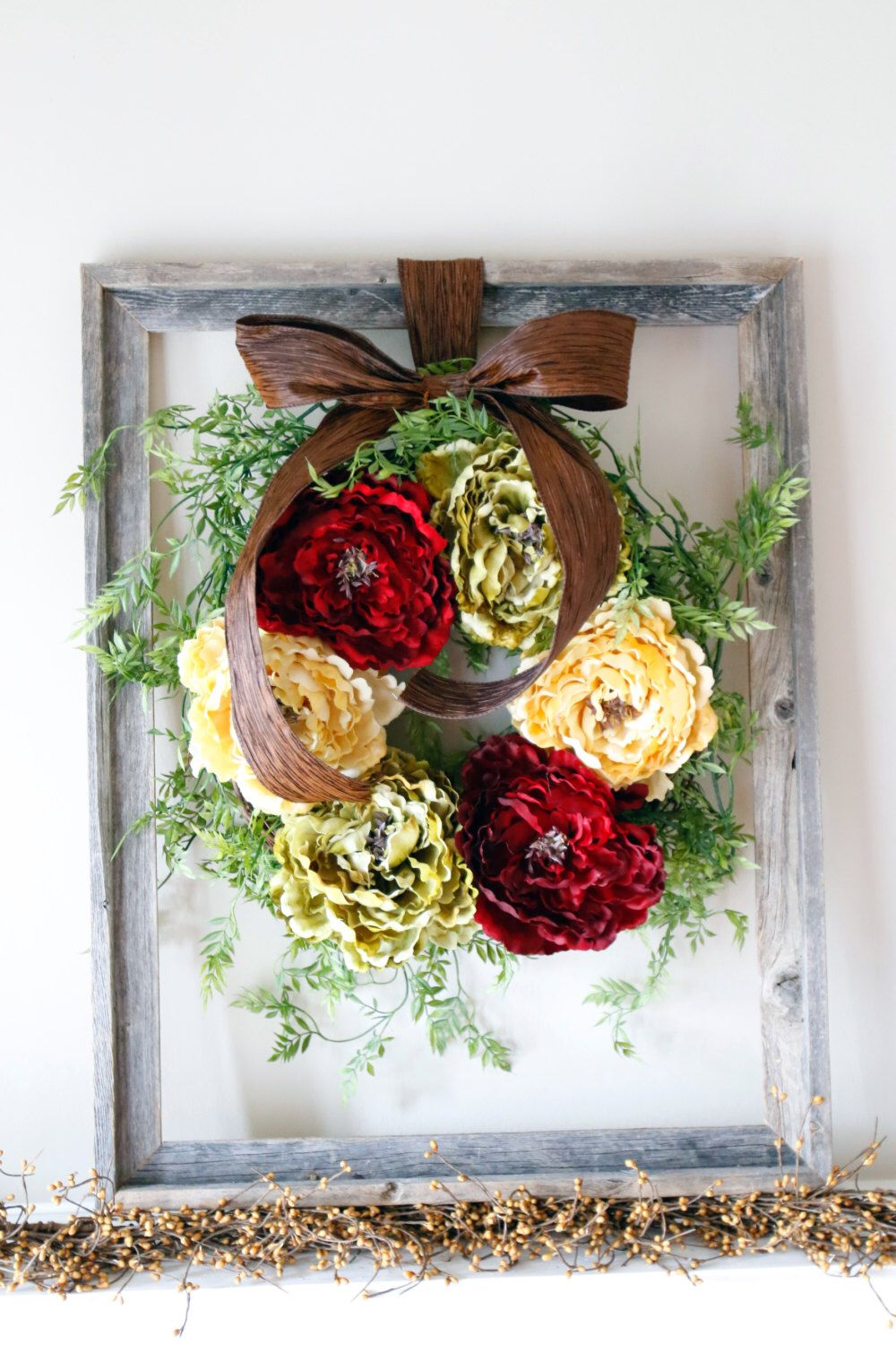 Front door decor for all seasons - Find This Pin And More On Wreath S All Seasons Christmas Peony Wreath Christmas Wreath For Front Door