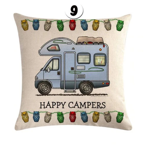 quotHappy Campersquot cushion cover