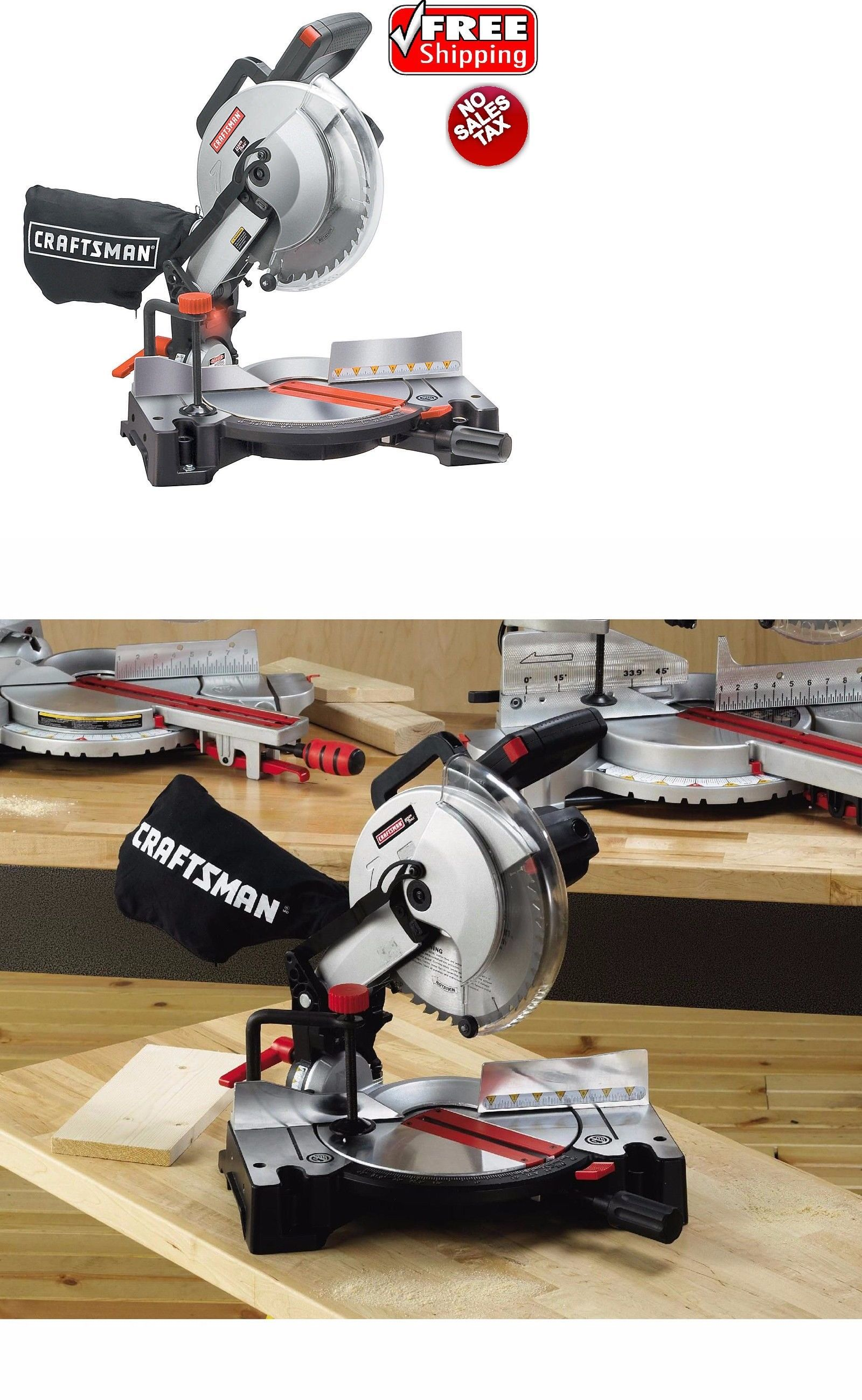 Craftsman Electric 10 Compound Miter Saw 15 Amp Laser Trac Portable Wood Lumber Wood Lumber Compound Mitre Saw Miter Saw